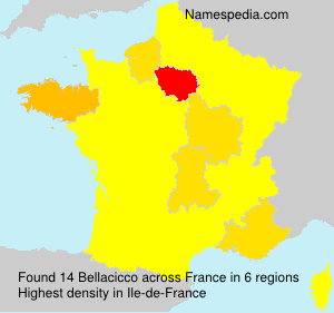 Surname Bellacicco in France