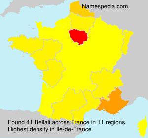 Familiennamen Bellali - France