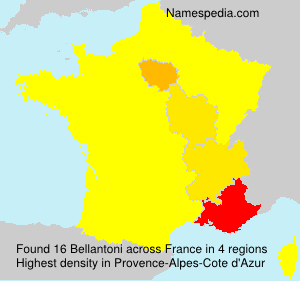Surname Bellantoni in France