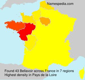 Surname Bellavoir in France