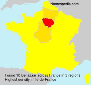 Surname Bellazaar in France