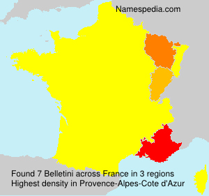 Surname Belletini in France