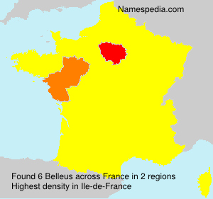 Surname Belleus in France
