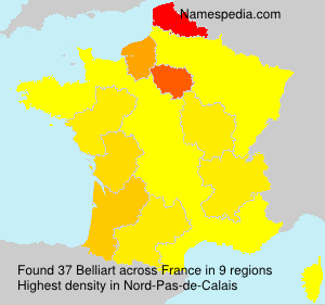 Surname Belliart in France