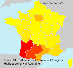 Surname Belloc in France