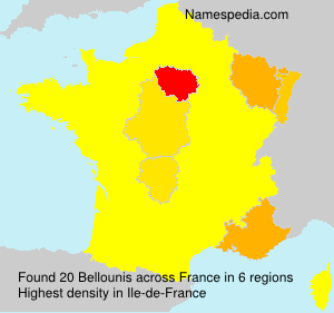 Surname Bellounis in France