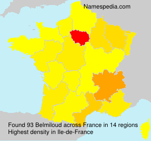 Surname Belmiloud in France