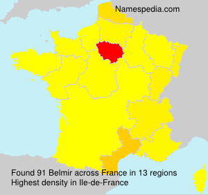 Surname Belmir in France