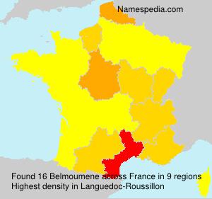 Surname Belmoumene in France