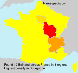 Surname Belnand in France