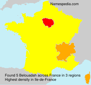 Surname Belouadah in France