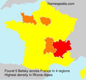 Surname Belsky in France