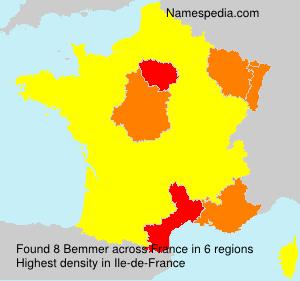 Surname Bemmer in France