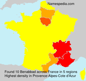 Surname Benabbad in France