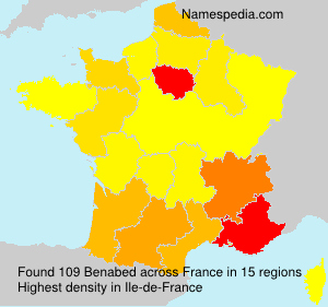 Surname Benabed in France