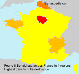 Surname Benaichata in France