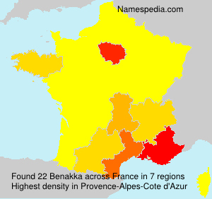 Familiennamen Benakka - France