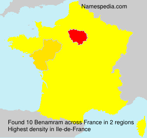 Surname Benamram in France