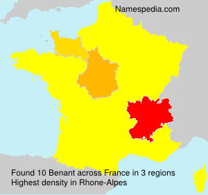 Surname Benant in France