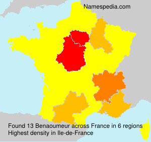 Surname Benaoumeur in France
