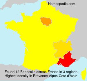 Familiennamen Benassila - France
