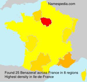 Surname Benazeraf in France