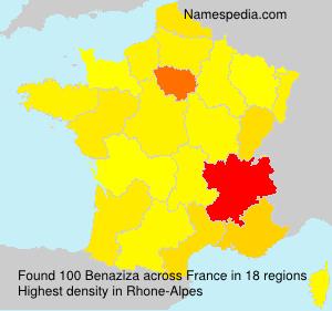 Surname Benaziza in France