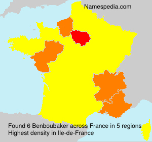 Surname Benboubaker in France