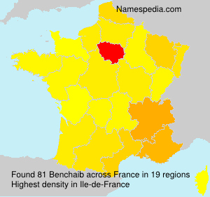 Surname Benchaib in France