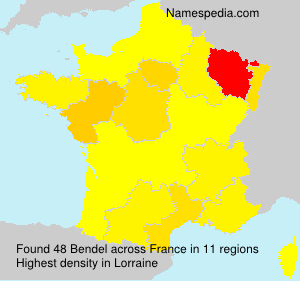 Surname Bendel in France