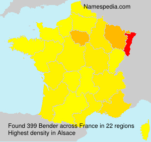 Surname Bender in France