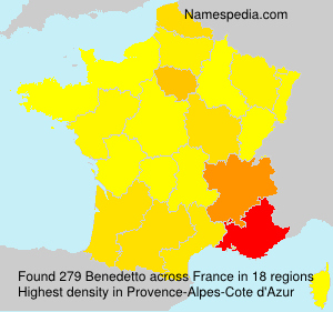 Surname Benedetto in France