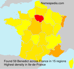 Surname Benedict in France