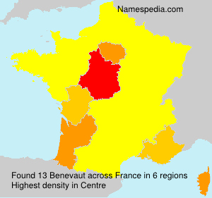 Surname Benevaut in France