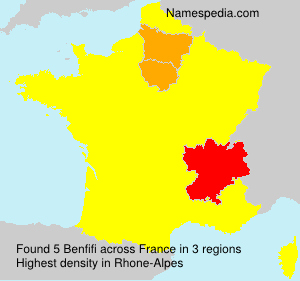 Familiennamen Benfifi - France