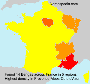Surname Bengas in France