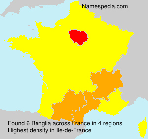 Surname Benglia in France