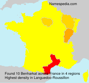 Surname Benharkat in France
