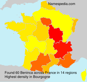 Surname Beninca in France