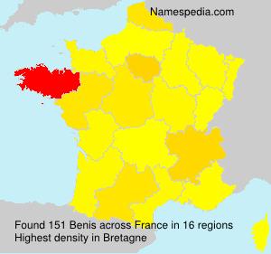 Surname Benis in France