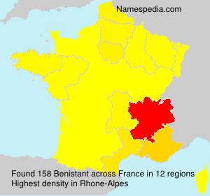 Familiennamen Benistant - France