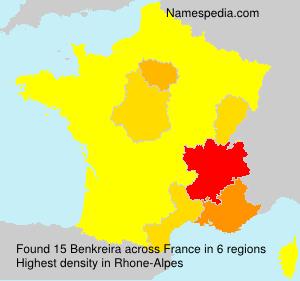 Surname Benkreira in France