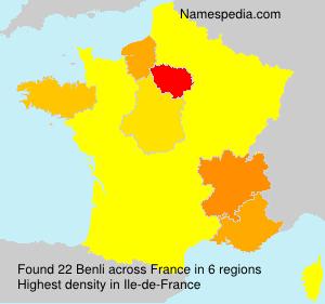 Surname Benli in France