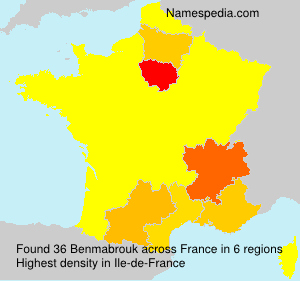 Surname Benmabrouk in France