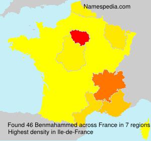 Surname Benmahammed in France