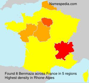 Surname Benmaza in France
