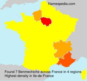 Familiennamen Benmechiche - France
