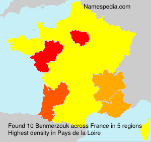 Surname Benmerzouk in France