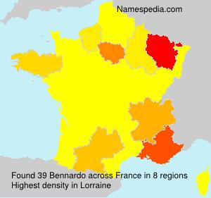 Surname Bennardo in France