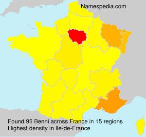 Surname Benni in France